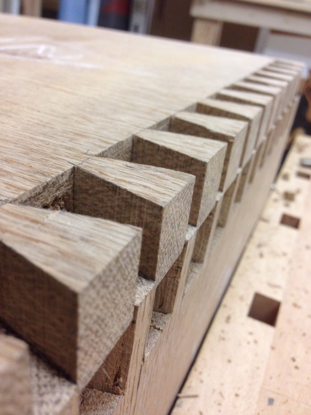 Dovetails for the chest with nine drawers