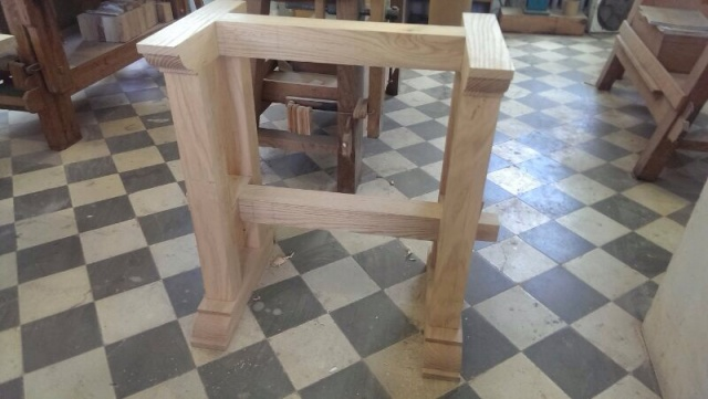 João made this fantastic oak stand for the Bargenho in Lugo