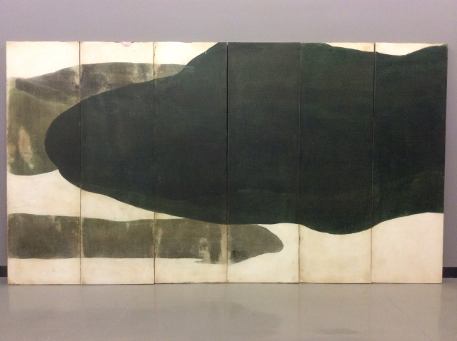 Whale Garden, 2014 Oil on linen, six panels 80x145 inches