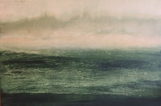 """Tempestad"",2015 Oil on linen 78 x110 inches"