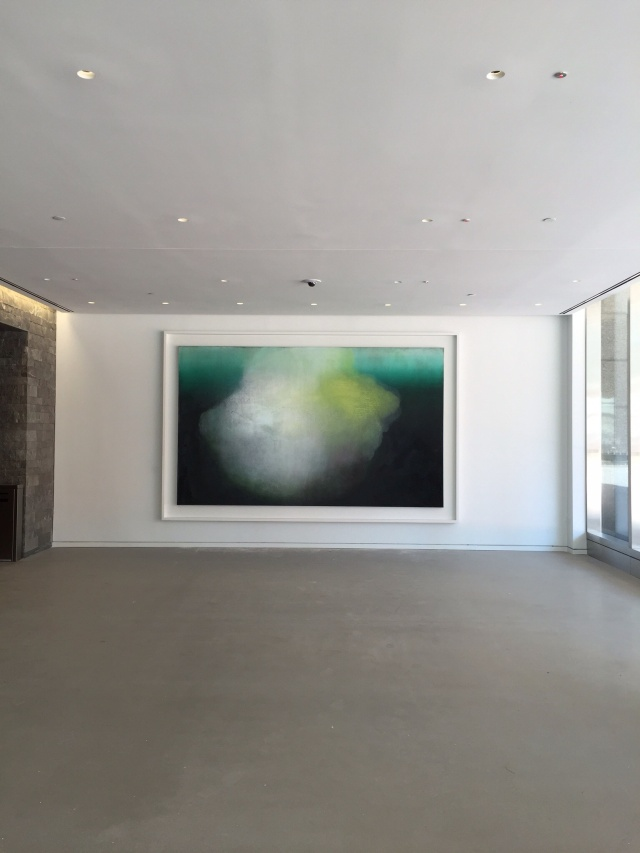 "My painting ""The crossing of the Styx"" 2016, oil on linen 90x150 inches installed in the lobby of 1 North End Ave in Battery Park, NYC"